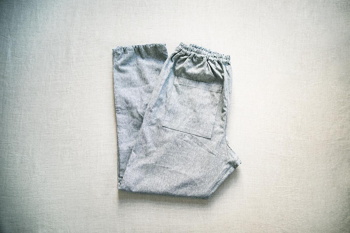 うなぎの寝床 現代風もんぺ ストレッチ 板染 宮田織物