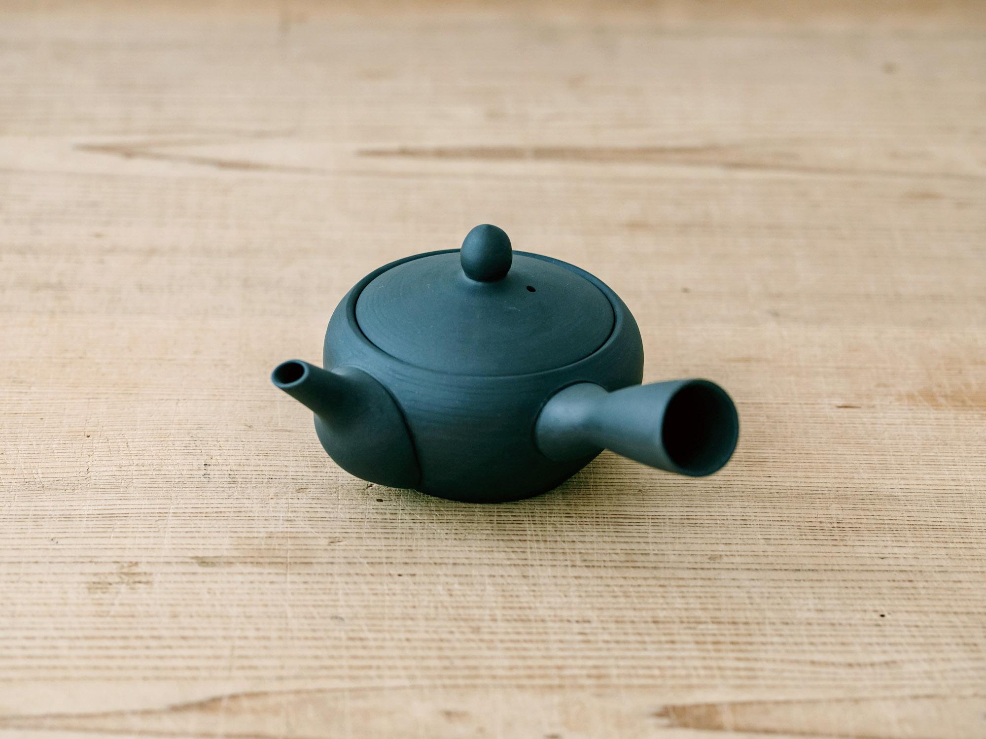 鉄鉢 黒くすべ 底網/南景製陶園